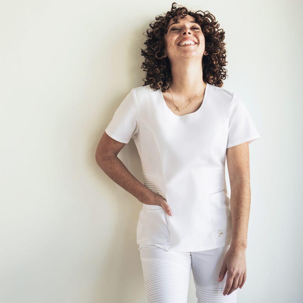 Michaela Pierre, Veterinary Dental Hygienist, Jaanuu Scrubs