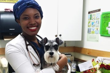 Aziza Glass, Veterinarian, Vet School, Jaanuu Lab Coat