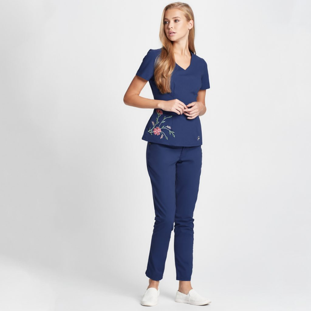 Jaanuu Scrubs, The Embroidered Top, Cute Scrub Outfits