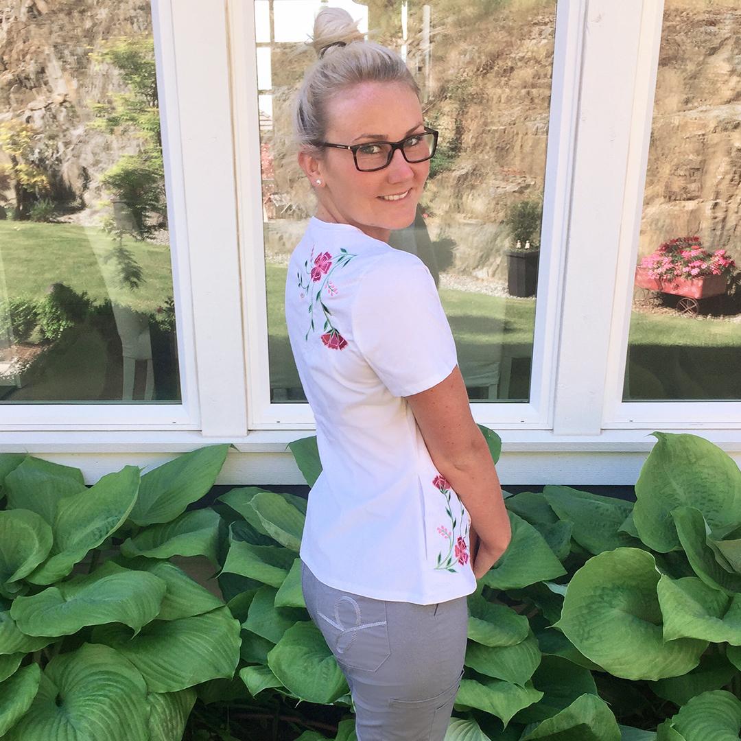Jaanuu Scrubs, Nurse, Embroidered Top